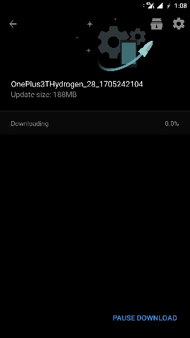 H2OS Open Beta 8-14 for OnePlus 3-3T ota update downloading