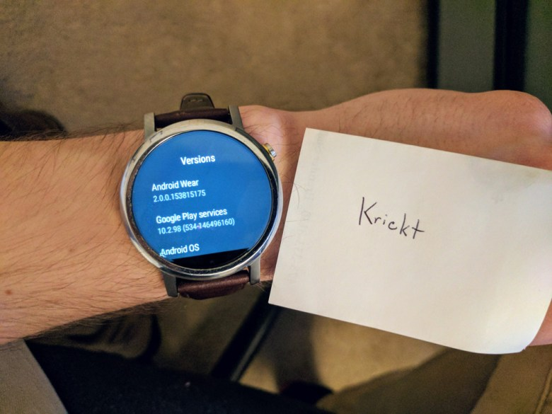 Moto 360 Android Wear 2.0 OTA update screenshot