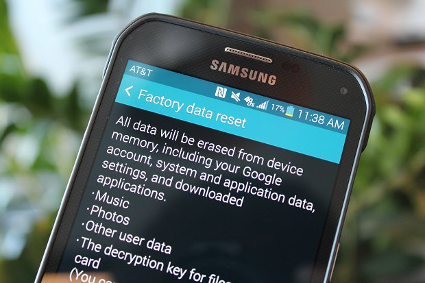 Performing Factory Reset on Android