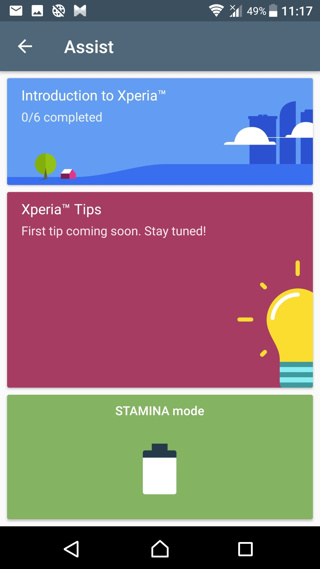 Assist Android 7.1.1 Nougat rolling out for Sony Xperia Z5, Z4, and Z3 - screenshots