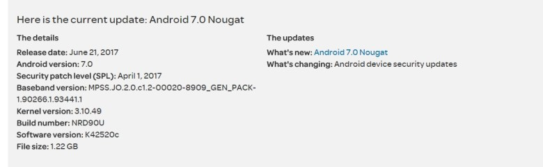 LG K10 2016 Android Nougat