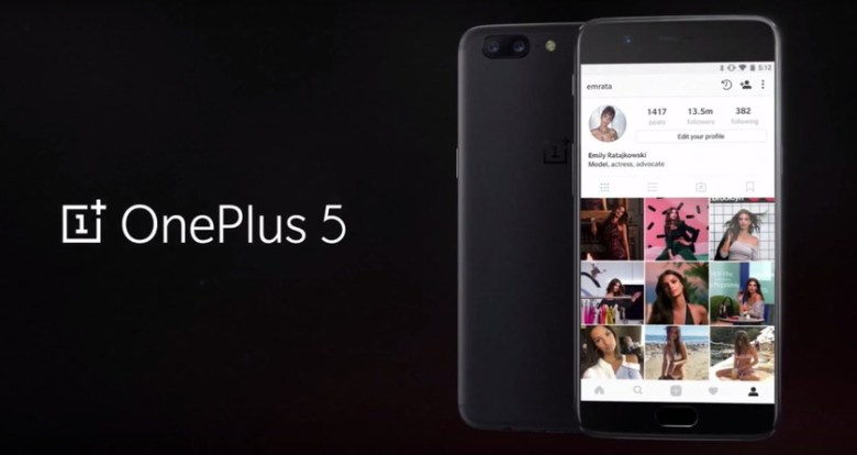 OnePlus 5 - Launch Live Event camera specifications
