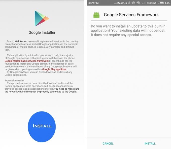 Google installer for MIUI 9 and MIUI 8 Nougat 2