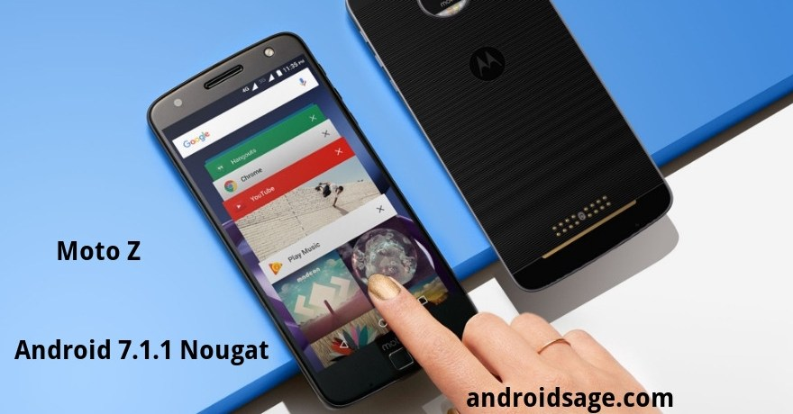 Moto Z Android 7.1.1 Nougat OTA update downloads and install