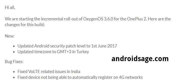 OnePlus 2 OTA for OxygenOS 3.6.0