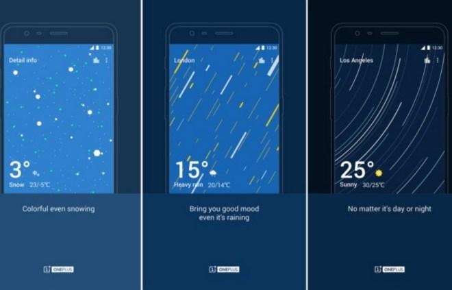 OnePlus weather app