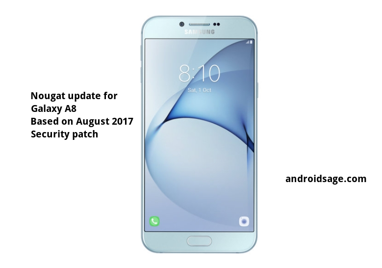 Galaxy A8 2016 (Dual Sim) receives Nougat update with August 2017 Security Patch