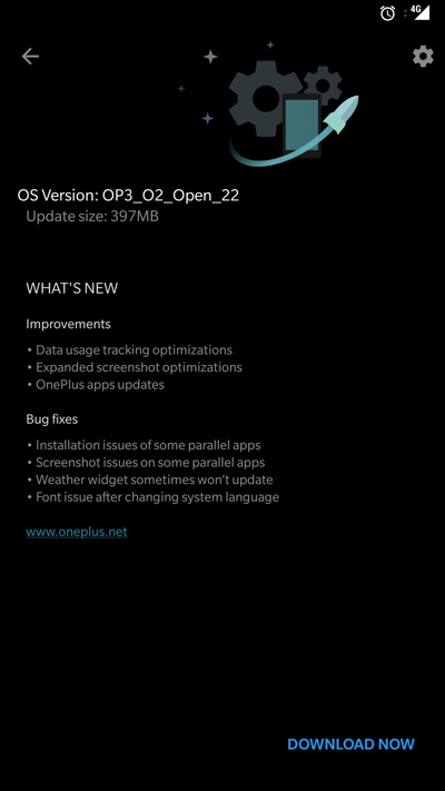 Oxygen OS Open Beta 22 for OnePlus 3 and Beta 13 for OnePlus 3 Screenshot