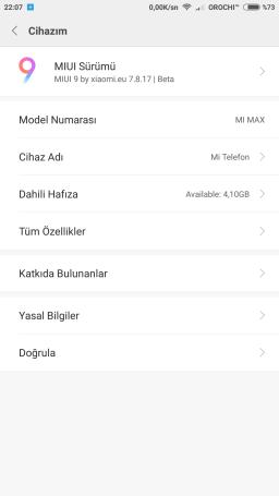 Xiaomi Redmi Note 3 MIUI 9 ROM port screenshot 2