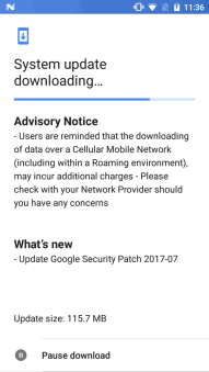 July 2017 security patch for Nokia 5