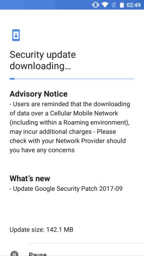 Nokia5_September2017_OTA 2017 security patch for Nokia 5