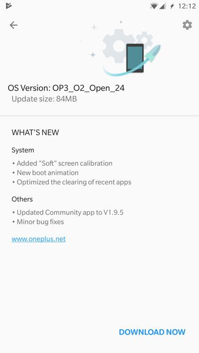 OnePlus 3 OxygenOS Open Beta 24 Screenshot