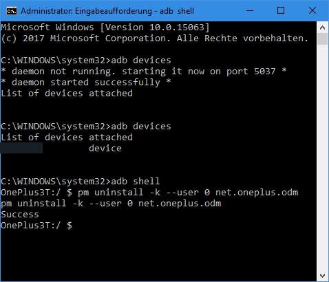 removing oneplus analytics by adb shell