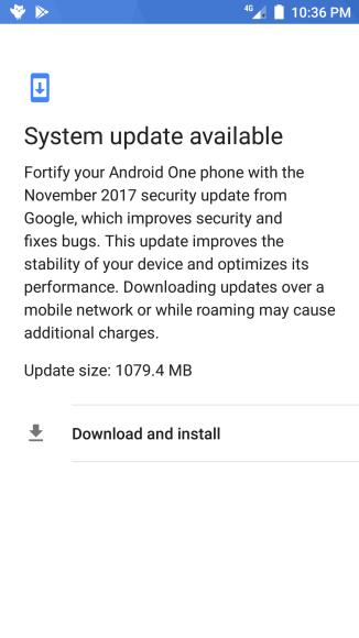 November Security Patch for Mi A1