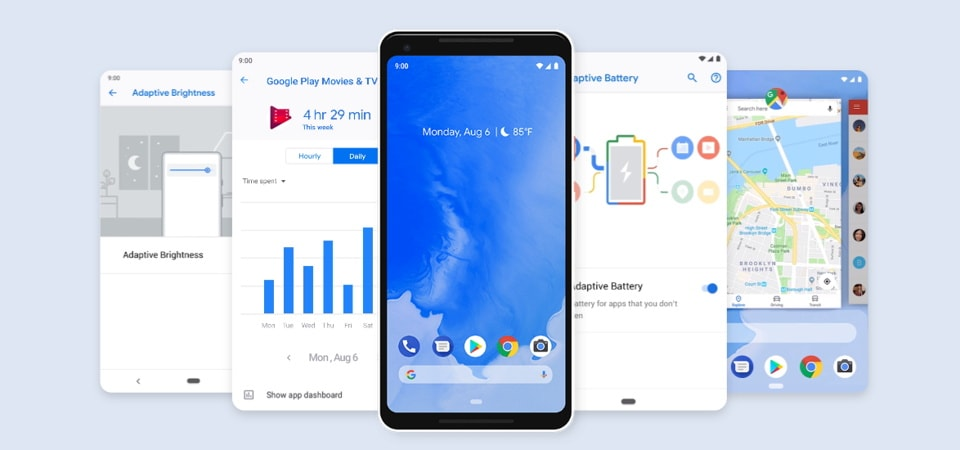 Top 5 Android 9 Pie features