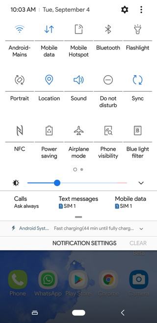 Android 9 Pie Theme for Samsung light dark Screenshot 3