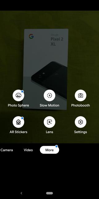 Google Pixel 3 camera features Screenshot