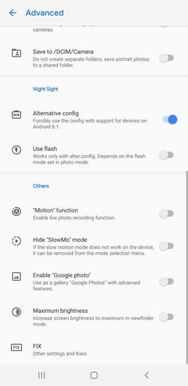 Snapdragon Samsung Gcam settings (5)