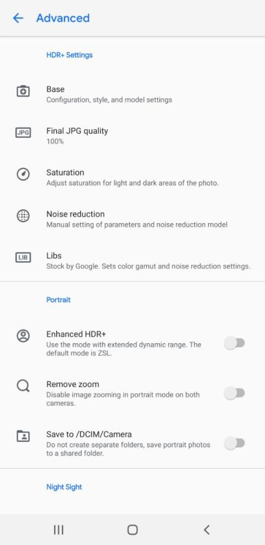 Snapdragon Samsung Gcam settings (6)