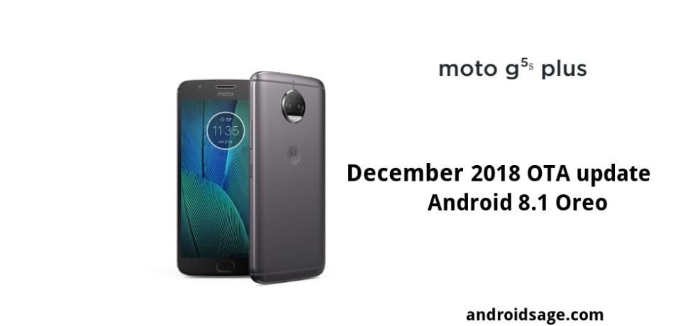 download Moto G5S and G5S Plus December 2018 OTA update