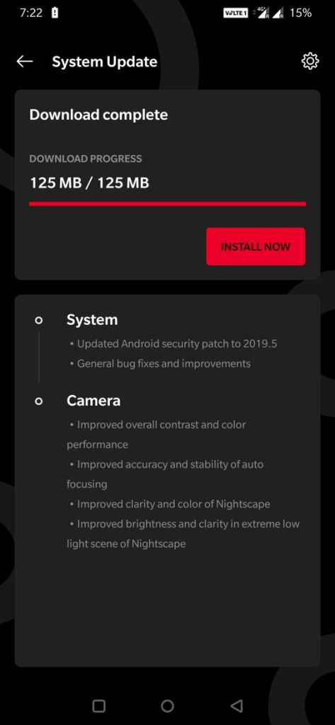 OTA downloads Oxygen OS 9.5.5 out for OnePlus 7