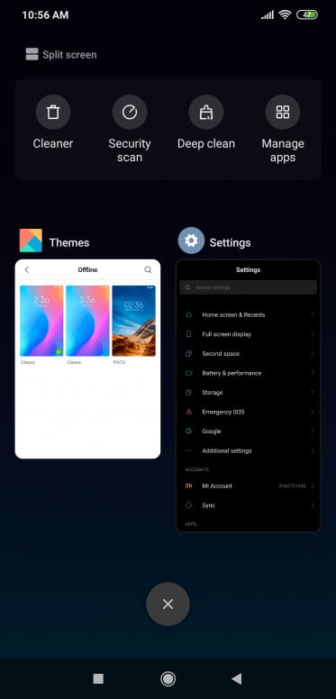 Xiaomi Poco F1 MIUI 10.3.5.0 Dark Mode screenshot2