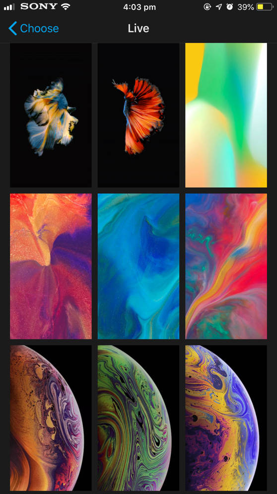 Apple iPhone XS and XS Max live wallpapers