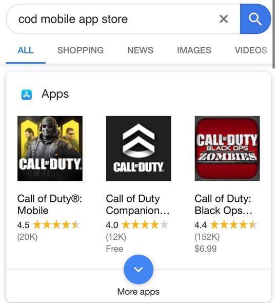 Call of Duty Mobile official global google chrome download
