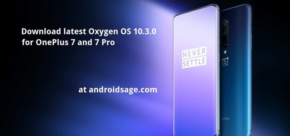 download latest oxygen os 10.3.0 ota update for oneplus 7 and 7 pro