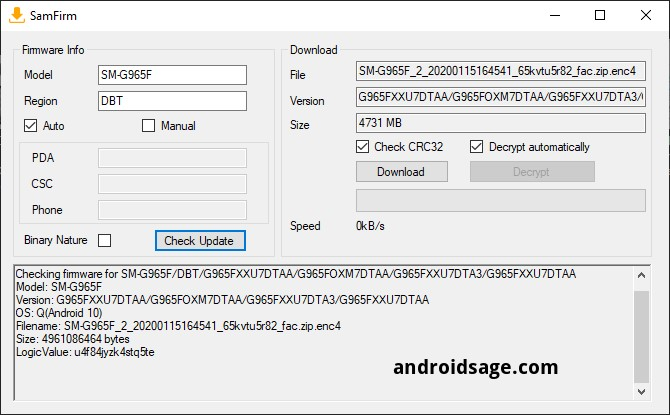 downloading android 10 for samsung galaxy s9 and s9 plus