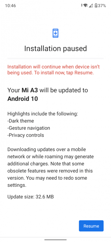Android 10 for Mi A3 March 2020-min
