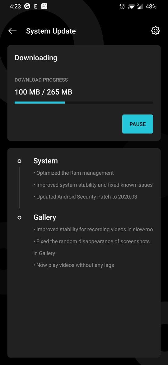 Oxygen OS 10.3.2 for oneplus 7 and 7 Pro