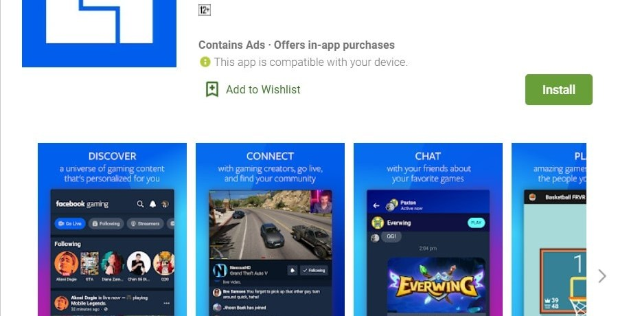 Facebook Gaming Watch Play and Connect APK download Apps on Google Play