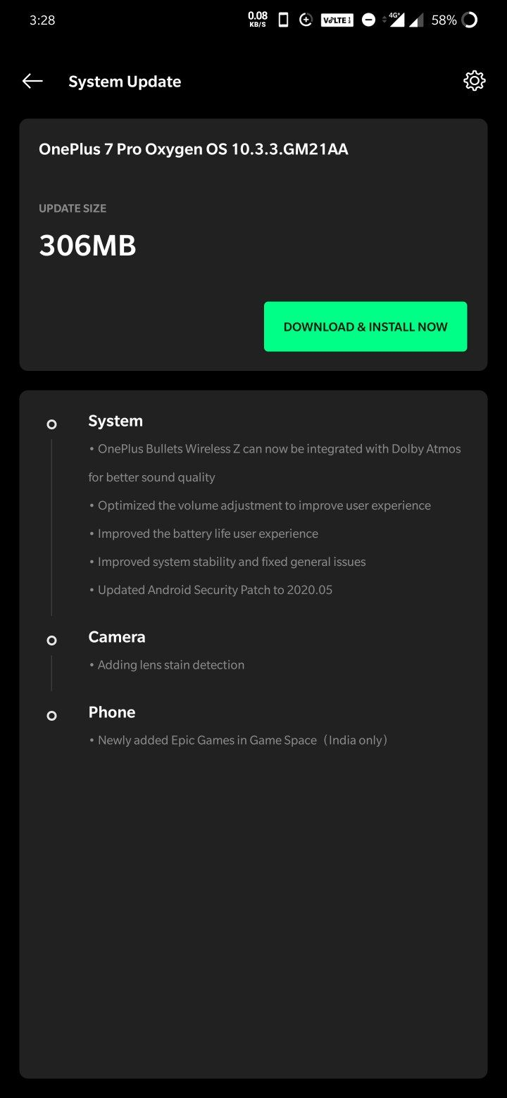 Oxygen OS 10.3.3 for OnePlus 7 and 7 Pro