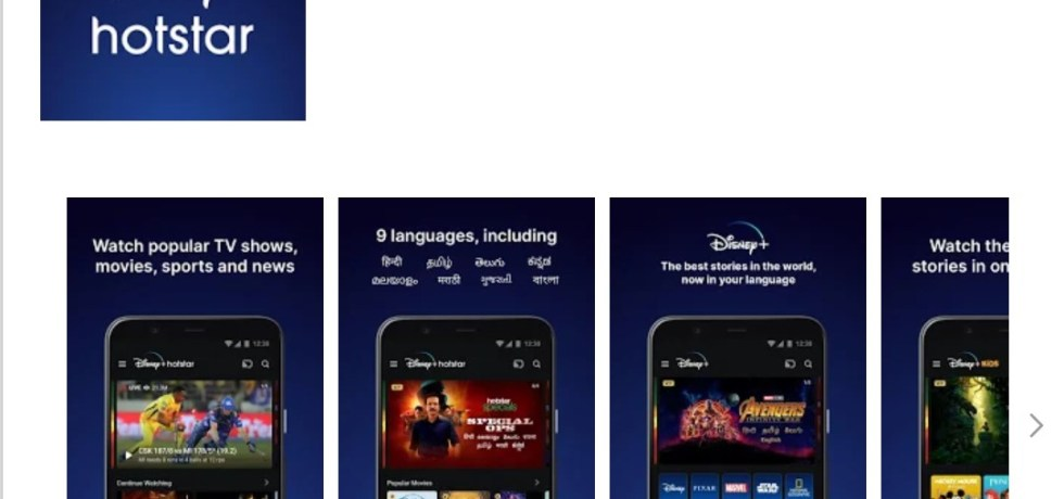 Disney + Hotstar APK download Apps on Google Play Store