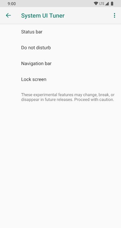 System UI Tuner on Android 10, 9 Pie, 8 Oreo