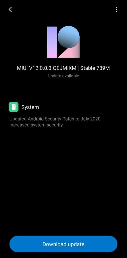 Xiaomi Poco F1 MIUI 12.0.0.3 Global Stable ROM