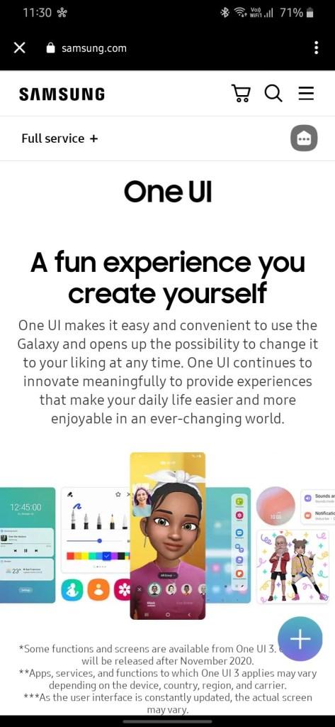 One UI 3.0 features screenshot 1