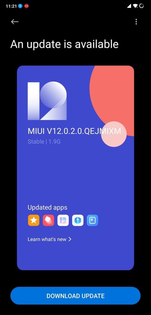Poco F1 MIUI 12.0.2