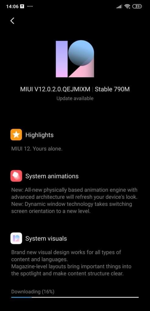 Xiaomi Poco F1 MIUI 12.0.2.0 OTA update stable