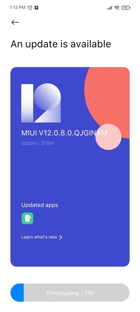 MIUI 12.0.8 Update on POCO X3 Indian Variant