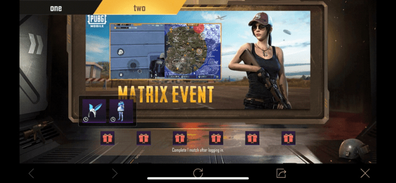 PUBG Mobile matrix event