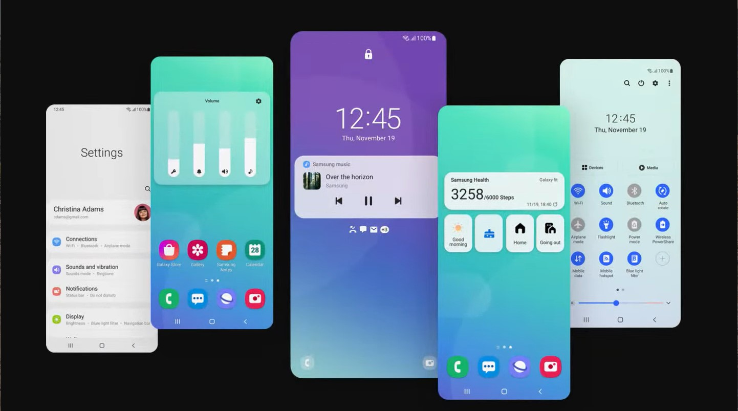 Samsung One UI 3 wallpapers