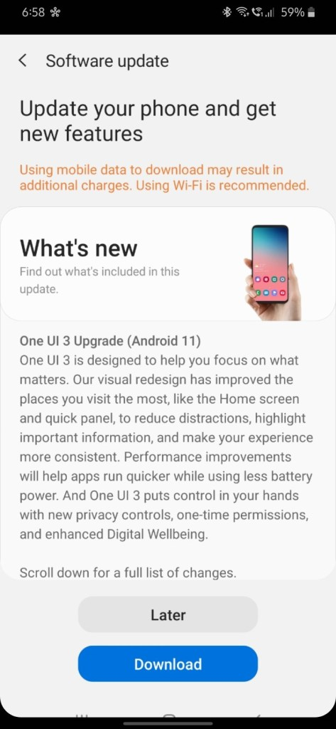 OneUI 3 for Samsung Galaxy M30s