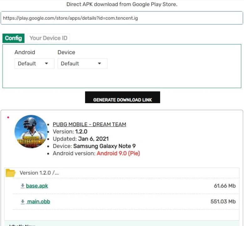 PUBG Mobile APK Downloader latest