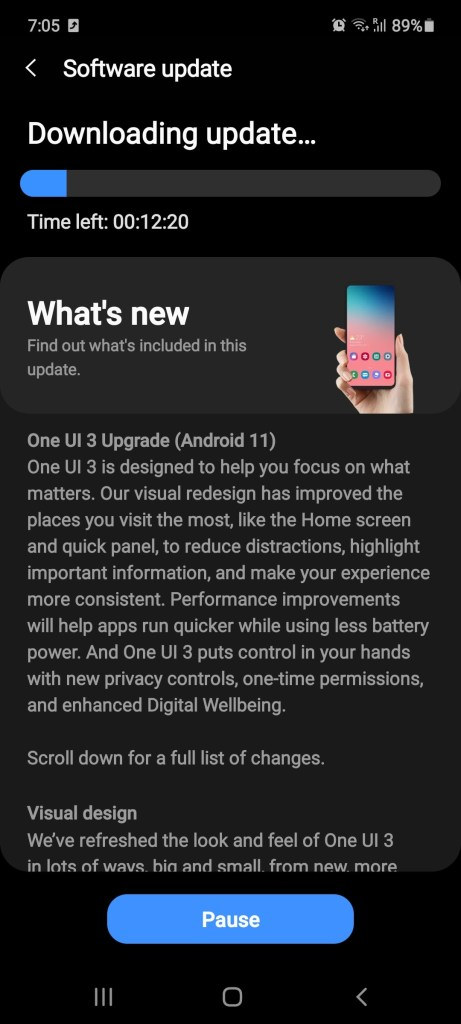 Samsung Galaxy Note 10 Lite One UI 3 update min