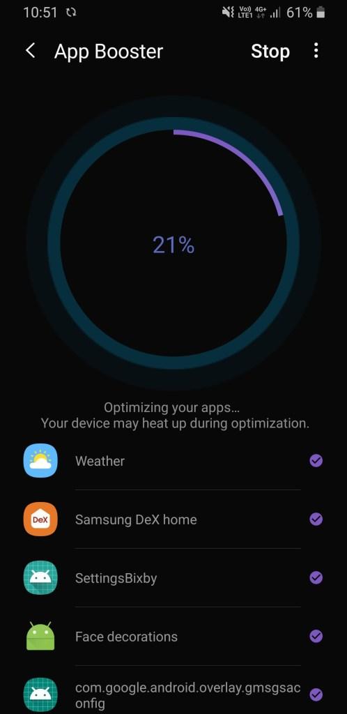 Samsung app booster from galaxy labs screenshot