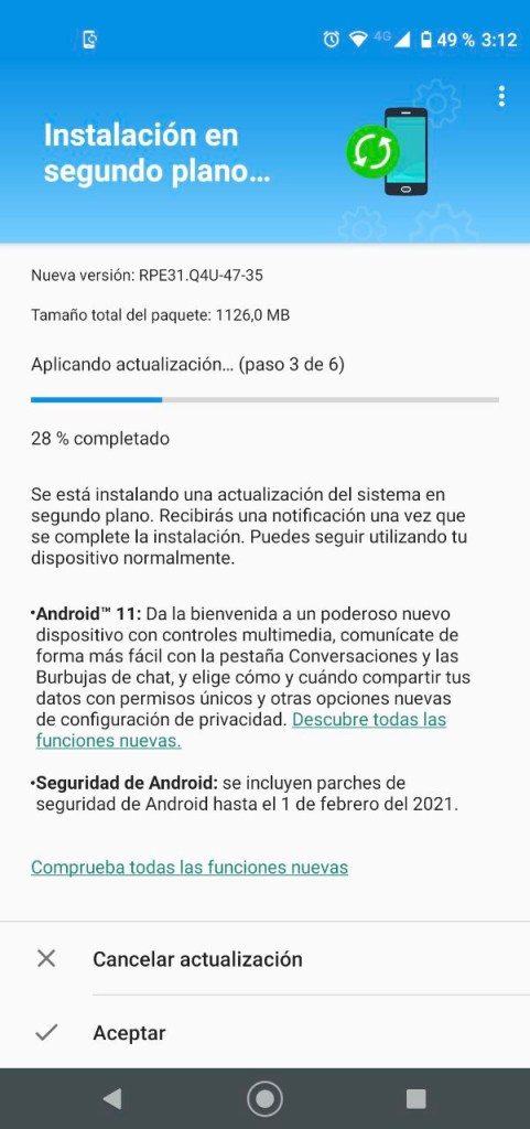 Android 11 rolling out to G8 and G8 power