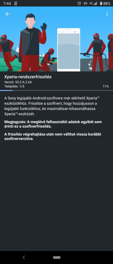 Xperia 1 receiving Android 11