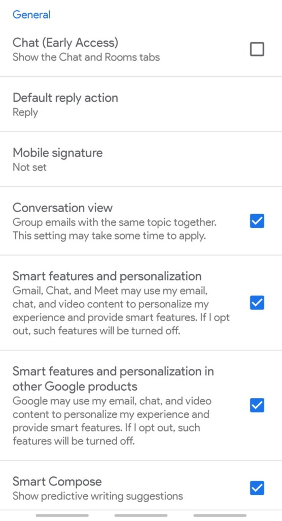 Enable Gmail Chat and Room feature Screenshot (1)